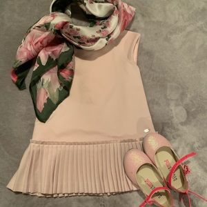 Babygirl pink pleated dress